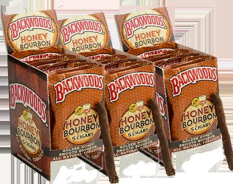 box of backwoods honey bourbon
